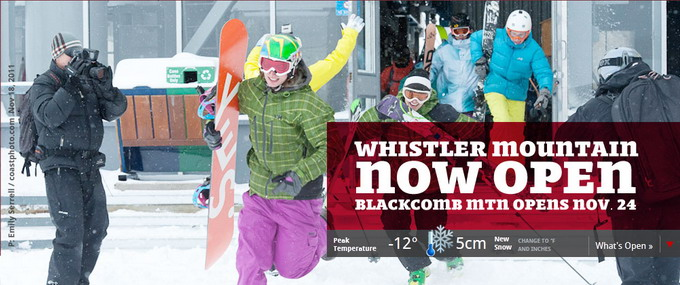 Whistler mountain Now Open
